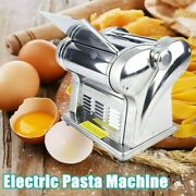 Electric Steel Pasta Maker Noodle Making Machine Dough Cutter With 2 Blades