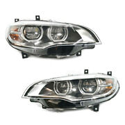 For 2008-2013 Bmw X6 E71 Afs Headlights Drl Double Lens Beam Upgrade 14 15 Led