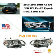 For 08-13 Bmw X6 E71 Afs Assembly Upgrade Projector To 14 15 Led Double Lens Lr