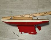 Vintage Pond Yacht And Stand Nautical Decor