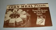 Albers Corn Meal Treats Recipes Advertising Folded Booklet Vintage