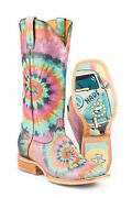 Tin Haul Groovy Tie Dye Camper Womens Multi Leather Cowboy Boots