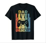 Mens Pregnancy Announcement Dad Level Unlocked Soon To Be Father T-shirt