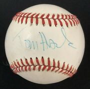 Tom Hanks Signed Baseball Rosie Odonnell Lori Petty Auto League Of Their Own Jsa