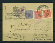Epirus Albanie 1914 Greece Moschopolis Local Issue Registered Cover To Germany