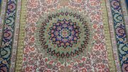 Superb 100 Silk Signed Floral Hand Knotted Oriental Rug Hand Washed 3 X 5