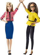 Collectible 2016 Barbie President And Vice President Dolls 2 Pk Girl Power New