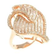 Authentic 750 Pink Gold Diamond Ring 260-003-952-4812