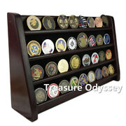 16 Challenge Coin Display 4 Tiers Stand Chips Military Token Medallion Holder