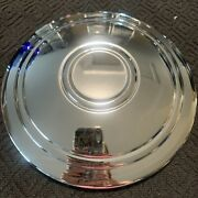 Plain Ribbed Baby Moon Dog Dish Wheel Center Rim Cap Hub Cover Chrome 6-3/4 Od