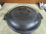 Vintage Griswold No 8 Cast Iron Tite-top Dutch Oven And Lid Dated 1920 Pot Pan