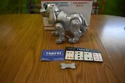 Vtg Tekno Interactive Robotic Puppy Dog Silver 90and039s By Manley Quest W/bone 3476
