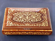 Italy - Reuge - Music / Jewelry Box - Hand Inlaid - Swiss Works - Love Story