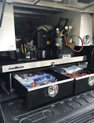A.r.e Black Aluminum Truck Cap And Load Master Bed Slide And Drawer System