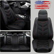 Pu Leather Car Seat Cover Universal 5-sit Automotive Frontandrear Cushion Interior