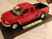 Gorgeous And Fun 118 1998 Ford Diecast. F-150 Pick-up 10 Long By Mira On Stand