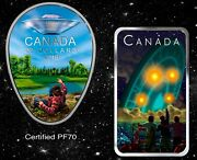 2018 Falcon Lake Pf70 And 2019 Shag Harbour Ufo Incident Silver Coins Canada Rcm