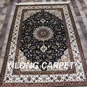 Yilong 4and039x6and039 Handmade Silk Carpet Kid Friendly Antistatic Home Area Rug 979b