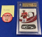 Kyler Murray Rookie Card Immaculate Rookie Patch Auto /25 2019 Bgs 9.5 Pop 2