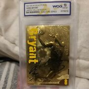 Kobe Bryant Autograph Card - Individually Serial Numbered - Rare Graded Mint 10