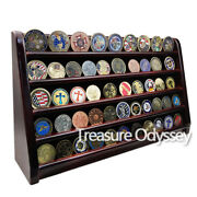 19 Challenge Coin Display 5 Tiers Stand Chips Military Medallion Holder Cherry