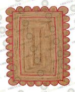 Scallop Jute Roseberry Hand Made Rug Bohemian Decor Customize In Any Size