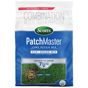 10 Lbs. Patchmaster Sun And Shade Grass Seed, Mulch And Lawn Fertilizer