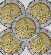 Germany 5 Coins Adfgj 2 Euro 2018 Commemorative Helmut New Unc From Roll