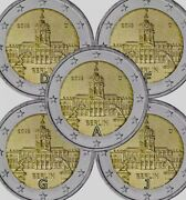 Germany 5 Coins 2andeuro Adfgj 2018 Commemorative Berlin New Unc From Rolls