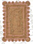 Scallop Jute Light Pink Hand Made Rug Bohemian Decor Customize In Any Size....