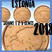 Estonia 🇪🇪3x Coins 2018 Bronze 1/2/5 Euro Cents New From Rolls Unc Maps Baltic