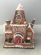 Raz Imports Large Lighted 16.5 Gingerbread House Mansion Christmas New