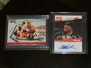 2009 Topps Ufc Brock Lesnar Debut Rc Lot Round 1 Silver /288 Round 2 1st Auto 📈