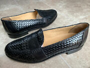Nettleton Handcrafted Woven Leather Loafers Shoes Menandrsquos Sz 10.5d Made In Belgium