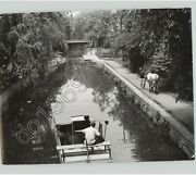 Horse Pulls Barge On Delaware Canal Animals Work Shipping 1970s Press Photo