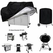 Waterproof Bbq Grill Cover Barbecue Heavy Duty Dust Rain Protective Covers Black