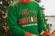 New Official Trump Keep America Great Ugly Merry Christmas Sweater Size Medium M