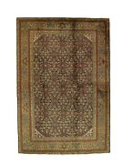 Hand-made 6and039 X 8and03910 Antique Bid/jar Hand-knotted Area Rug