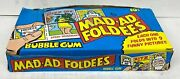 1976 Mad-ad Foldees Vintage Trading Card Wax Box Topps Bubble Gum 36 Packs Full