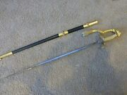 Usn Model M1852 Sword With Scabbard And Knot - Inv508