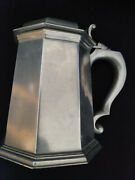 Tankard Pitcher Water Octette Pewter With Lid By Gorham Silver Ph39