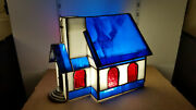 Vintage Lighted Stained Glass Church Nativity Christmas - No Lighting Included