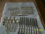 Westmorland George And Martha Washington Sterling Silver 31 Pieces