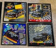 Lot 4 Miller Genuine Draft Mgd Beer Rusty Wallace 2 Nascar Mirrors Adveristing