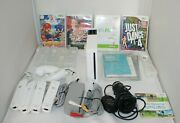 Nintendo Console Wii Sports Controllers Games Nunchucks Skins Just Dance 4