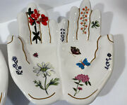 Nathalie Lete Anthropologie Two Hand Rose Butterfly Ring Dish Sold Out
