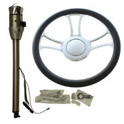30 Auto Stainless Steering Column Gm And 14 Steering Chrome Wheel And Horn Button