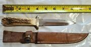 Taylor Cutlery Kingsport Tennessee Elk Horn Surgical 1979 Dagger And Sheath