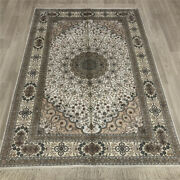 Yilong 4and039x6and039 Handmade Silk Rug Home Office Indoor Family Room Carpet 028b