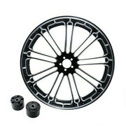 23 Front Wheel Rim Dual Disc Wheel Hub Fit For Harley Electra Glide 2008-2021